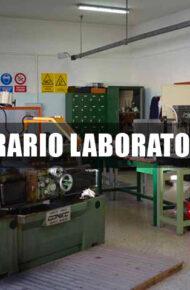 Orario laboratori dal 9 al 12 dicembre